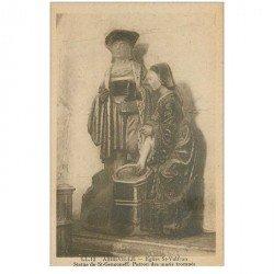 carte postale ancienne 80 ABBEVILLE. Eglise Saint-Vulfran Statue Saint-Gengoneff Patron des maris trompés