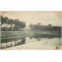 carte postale ancienne 80 ABBEVILLE. La Somme près de l'Usine à Gaz 1905