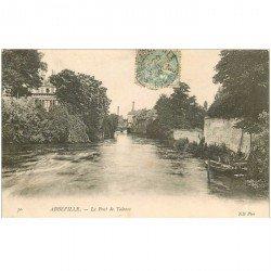 carte postale ancienne 80 ABBEVILLE. Le Pont de Talence 1906