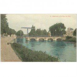 carte postale ancienne 80 ABBEVILLE. Le Pont des Prés vers 1900