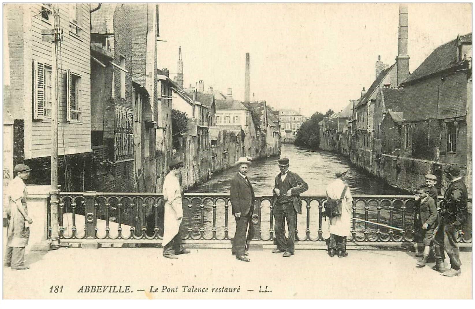 carte postale ancienne 80 ABBEVILLE. Le Pont Talence restauré