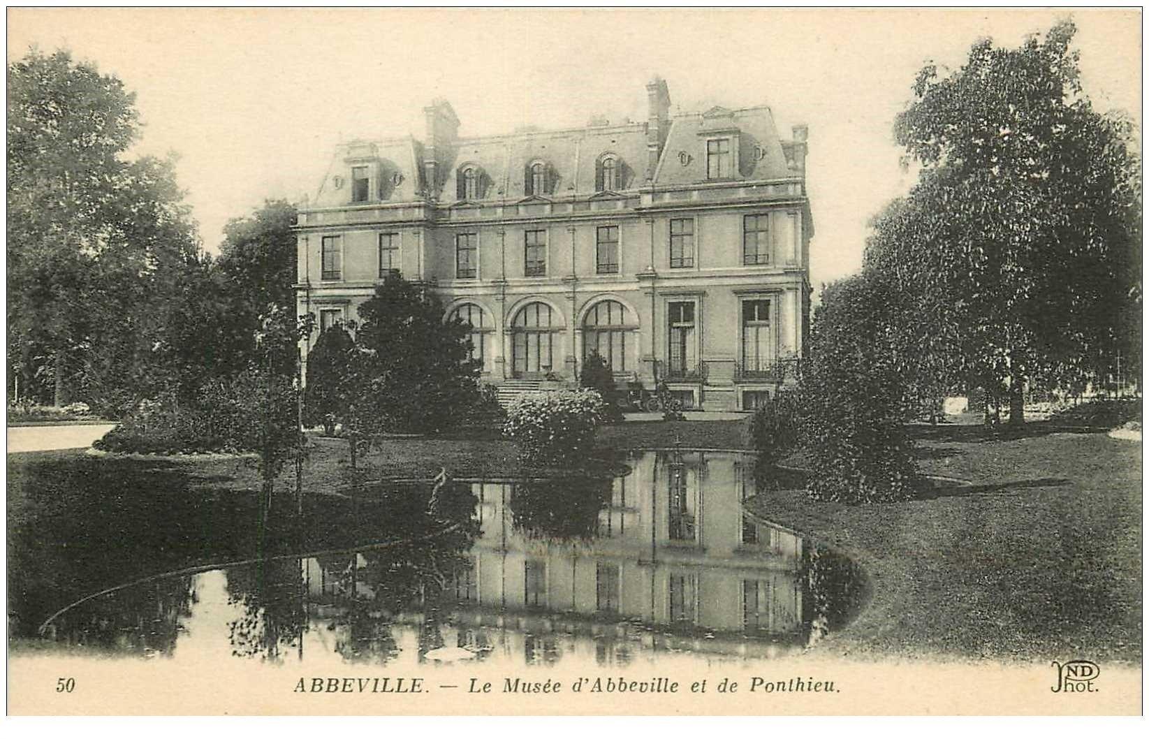 carte postale ancienne 80 ABBEVILLE. Musée d'Abbeville et Ponthieu