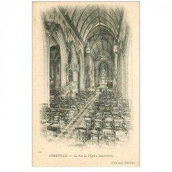 carte postale ancienne 80 ABBEVILLE. Nef Eglise Saint-Gilles vers 1900