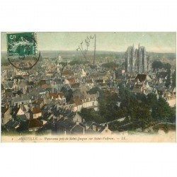 carte postale ancienne 80 ABBEVILLE. Panorama 1909