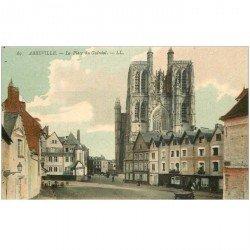 carte postale ancienne 80 ABBEVILLE. Place du Guindal