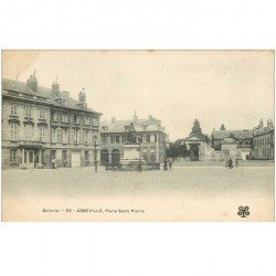 carte postale ancienne 80 ABBEVILLE. Place Saint-Pierre vers 1900
