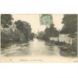 carte postale ancienne 80 ABBEVILLE. Pont de Talence 1906