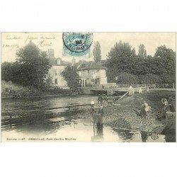 carte postale ancienne 80 ABBEVILLE. Pont des Six Moulins 1904