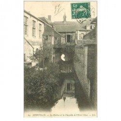 carte postale ancienne 80 ABBEVILLE. Rivière et Chapelle Hôtel Dieu 1911
