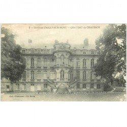 carte postale ancienne 80 AILLY-SUR-NOYE. Château de Chaussoy (en l'état)...