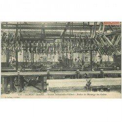 carte postale ancienne 80 ALBERT. Atelier montage des Cadres Société Industrielle 1909
