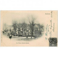 carte postale ancienne 80 AMIENS. 1901 la Place Saint-Denis
