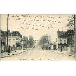 carte postale ancienne 80 AMIENS. Avenue du Général Foy Café Restaurant
