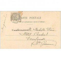 carte postale ancienne 80 AMIENS. Cathédrale la façade 1902 carte postale