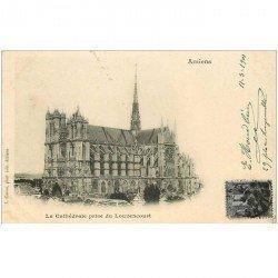 carte postale ancienne 80 AMIENS. Cathédrale prise du Louvencourt 1901
