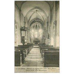 carte postale ancienne 02 LAUNOIS. Maître-Autel de l'Eglise 1923