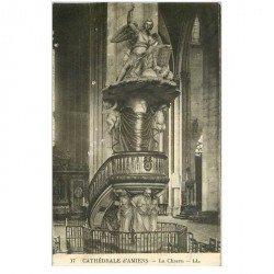 carte postale ancienne 80 AMIENS. Cathédrale sa Chaire. Qq trous punaise