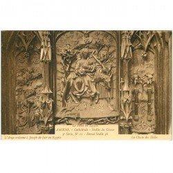 carte postale ancienne 80 AMIENS. Cathédrale Stalles du Choeur. Fuite en Egypte