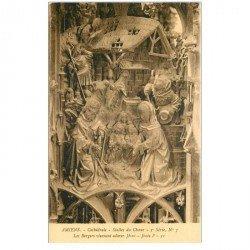 carte postale ancienne 80 AMIENS. Cathédrale Stalles du Choeur. Les Bergers