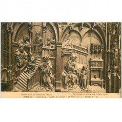 carte postale ancienne 80 AMIENS. Cathédrale Stalles du Choeur. Marie au Temple