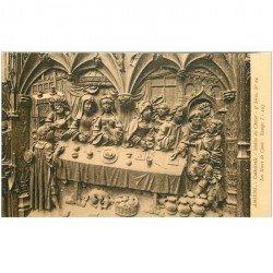 carte postale ancienne 80 AMIENS. Cathédrale Stalles du Choeur. Noces de Cana