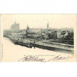 carte postale ancienne 80 AMIENS. Port d'Aval vers 1900