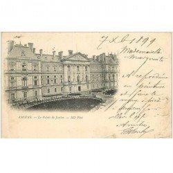 carte postale ancienne 80 AMIENS. Rare 1899 Le Palais de Justice