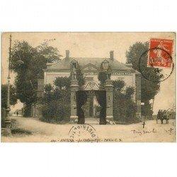 carte postale ancienne 80 AMIENS. Restaurant Le Château-Fort 1914