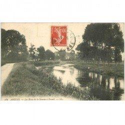 carte postale ancienne 80 AMIENS. Rives de la Somme à Dreuil