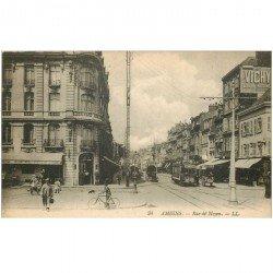 carte postale ancienne 80 AMIENS. Rue de Noyon Hôtel Belfort