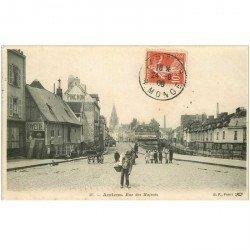 carte postale ancienne 80 AMIENS. Rue des Majeots 1909
