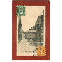 carte postale ancienne 80 AMIENS. Rue Grainville 1925. Pli coins...