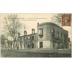 carte postale ancienne 80 AMIENS. Ruines Guerre 1914. Chapelle Hôpital Saint-Charles 1921