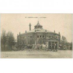 carte postale ancienne 80 AMIENS. Ruines Guerre 1914. Le Cirque