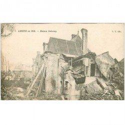 carte postale ancienne 80 AMIENS. Ruines Guerre 1914. Maison Deberny
