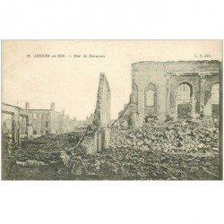 carte postale ancienne 80 AMIENS. Ruines Guerre 1914. Rue de Beauvais