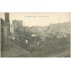 carte postale ancienne 80 AMIENS. Ruines Guerre 1914. Rue de Beauvais 13