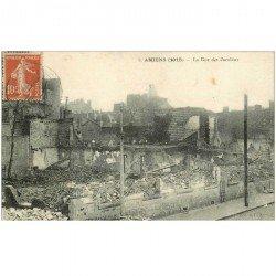 carte postale ancienne 80 AMIENS. Ruines Guerre 1914. Rue des Jacobins