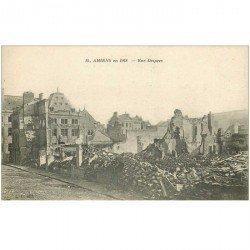 carte postale ancienne 80 AMIENS. Ruines Guerre 1914. Rue Desprez