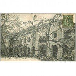 carte postale ancienne 80 AMIENS. Ruines Guerre 1914. Salle des Fêtes