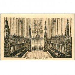 carte postale ancienne 80 AMIENS. Stalles du Choeur de la Cathédrale