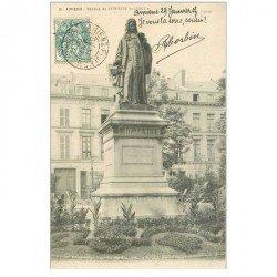 carte postale ancienne 80 AMIENS. Statue Dufresne du Cange 1905
