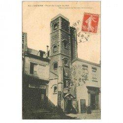 carte postale ancienne 80 AMIENS. Tour du Logis du Roi 1909 et Cinématographe