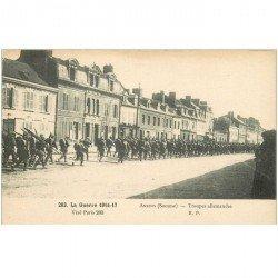 carte postale ancienne 80 AMIENS. Troupes allemandes Guerre 1914-18