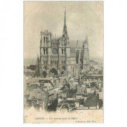 carte postale ancienne 80 AMIENS. Vue prise du Beffroi 1904