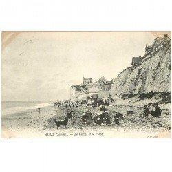 carte postale ancienne 80 AULT. La Plage et Casino 1905
