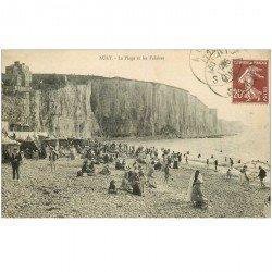 carte postale ancienne 80 AULT. La Plage et Falaises 1925