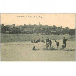 carte postale ancienne 80 AULT. La Plage jeux de sable
