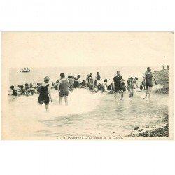 carte postale ancienne 80 AULT. Le Bain à la Corde 1930