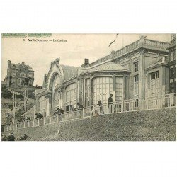 carte postale ancienne 80 AULT. Le Casino 1915